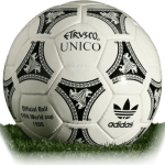 Etrusco Unico is official match ball of World Cup 1990